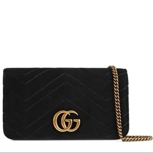 Gucci NEW Black Velvet Purse